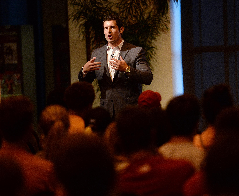 Matt Mayberry, Excellence Acad. speaker series, 09/14/15_Mike Dickbernd